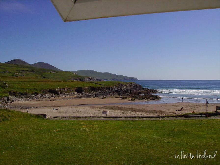 Window view outside Beach Cove Bed and Breakfast Portmagee Co. Kerry