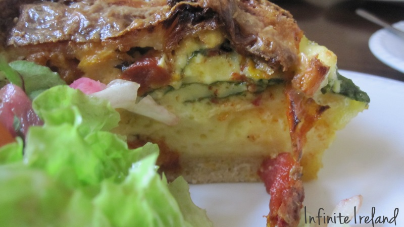 Quiche and salad at the Corrib House