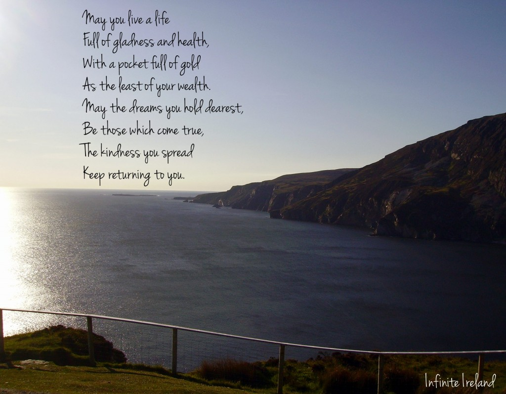 Slieve League, Co. Donegal and Irish Blessing