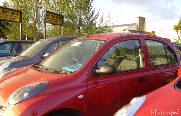 Red Rental Car in Ireland