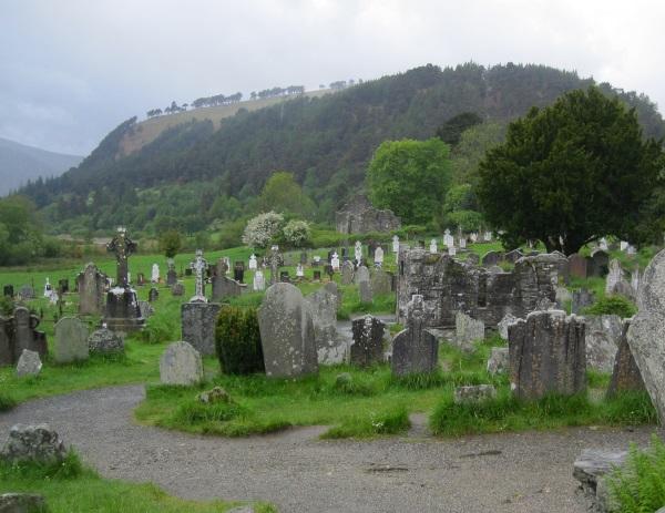 Grave stones in Glendalough, Co. Wicklow