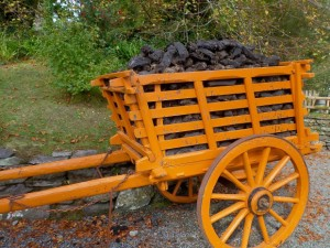Fresh Cut Peat in orange cart