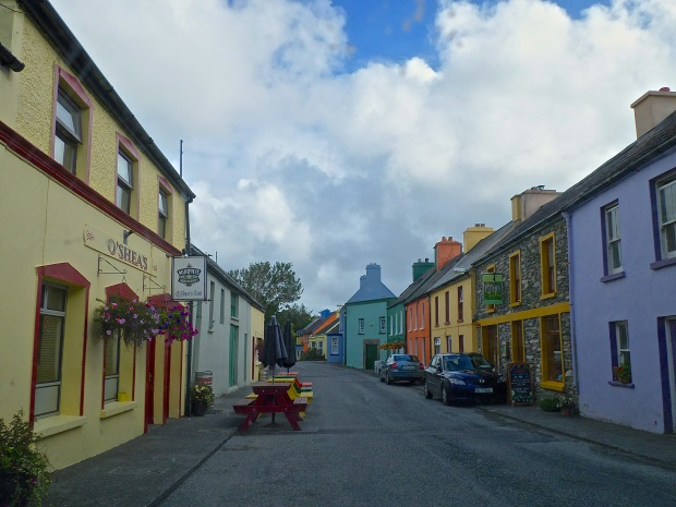 Row Houses in Eyeries, A Small Village on the Beara Peninsula, Co. Cork