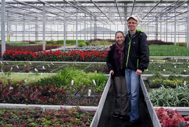 Joe and Stephanie Chastian in Flower Nusery