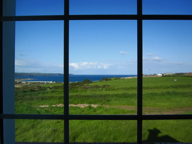 View from Duncrone B&B Bedroom Window, Ocean, Pasture