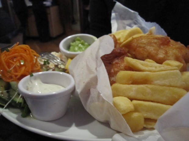 Fish and Chips at Neville's Bar Fethard