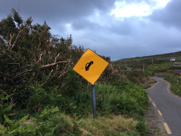 Irish Road Sign Dingle Peninsula