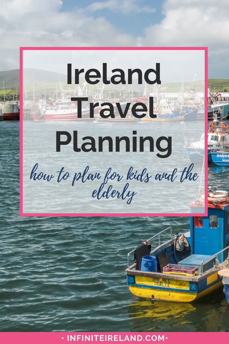 Traveling to Ireland (or anywhere for that matter) may seem difficult when traveling with children or the elderly. Rest assured. Ireland welcomes all her visitors with open arms. However, it is best to do a little research if you are taking along your kids, parents or grandparents. Click for my tips to make the expierence a great one for all!