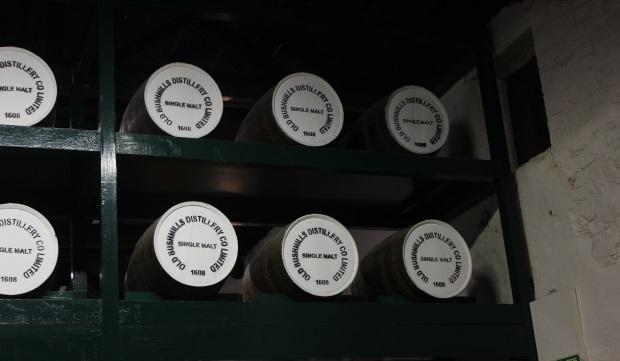 Irish Whiskey Distillery Barrells