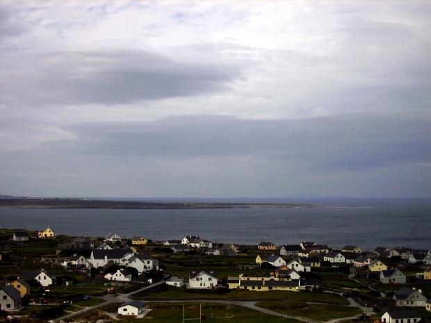 Houses on an island