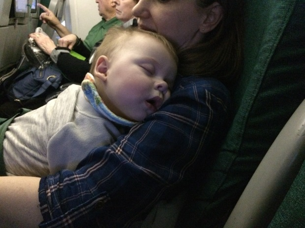 Traveling to Ireland with a baby on an airplane