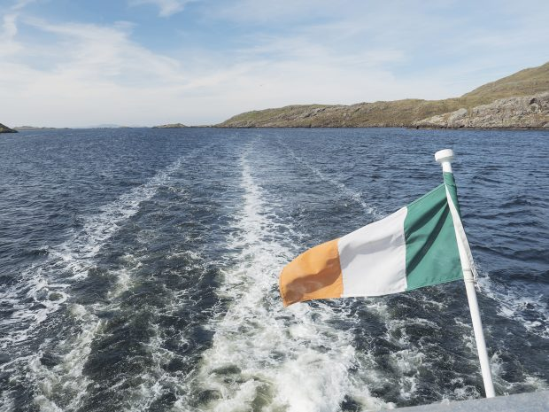 Ferry Irish Flag