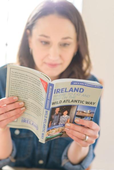 Reading an Ireland travel book